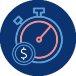 timer and dollar icon