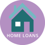 Home icon with home loans text