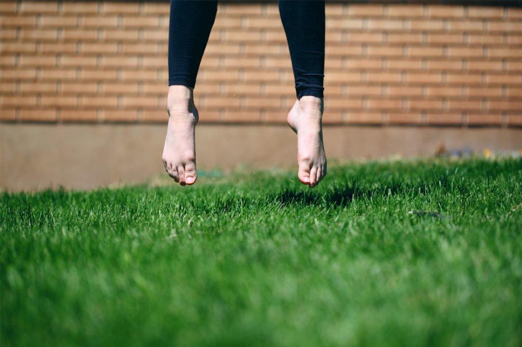 feet above grass ground